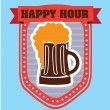 Happy hour — Stock Vector #30936315