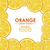 Orange citrus fruit — Stock Vector