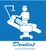 Dentist icons — Stock Vector