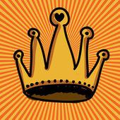 Crown design — Stock Vector