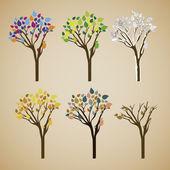 Trees design — Stock Vector