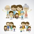 Stock Vector: Different families