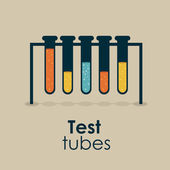 Test tubes — Stock Vector