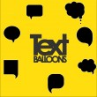 Illustration of text balloons — Stock Vector