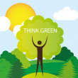 Think green — Stock Vector
