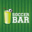 Soccer bar — Stock Vector