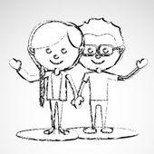 Couple design — Stock Vector