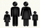 Family love — Stock Vector