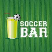 Futbol bar — Stok Vektör