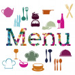 Stock Vector: Menu food design