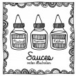 Sauces drawing — Stock Vector