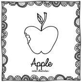 Elma çizme — Stok Vektör