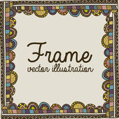 Frame drawing — Stock Vector