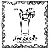 Lemonade drawing — Stock Vector