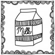 Milk drawing — Stock Vector