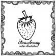 Strawberry drawing — Stockvektor