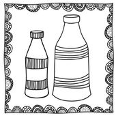 Bottles drawing — Stock Vector
