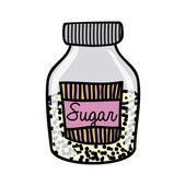 Sugar drawing — Stock Vector
