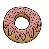 Donut drawing — Stock Vector