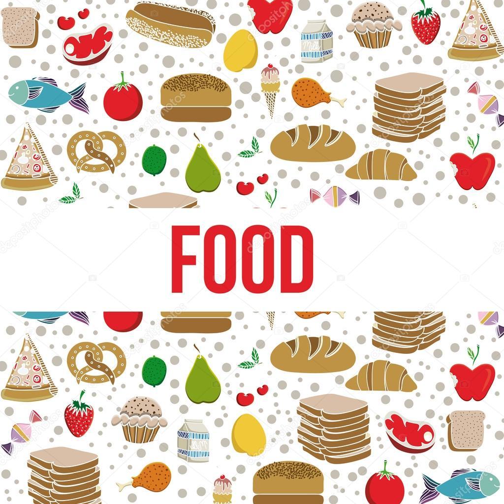 Dise O De Alimentos Archivo Im Genes Vectoriales 33200107