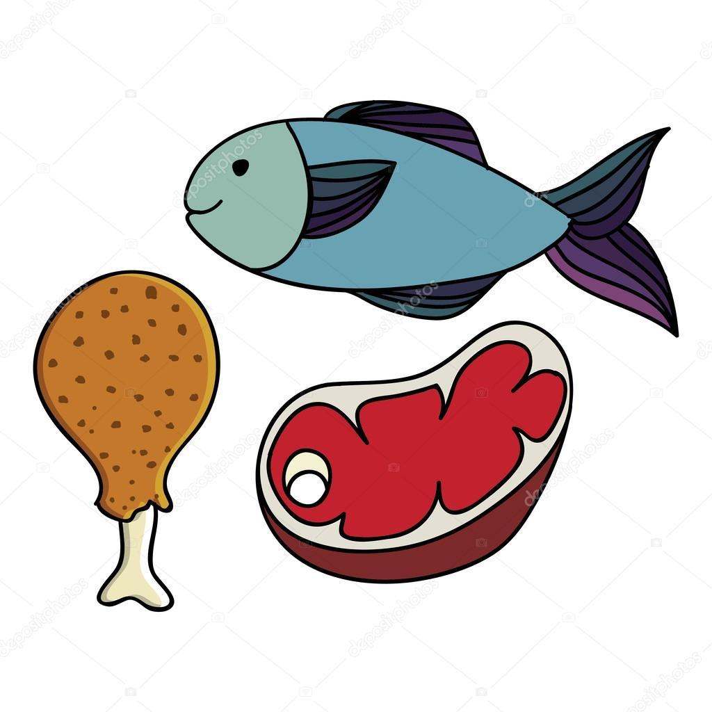 картинки для расспечатки мяса и рыбы Brubeck Польская