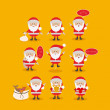 Santa claus design — Stockvectorbeeld