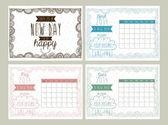 Progettazione calendario — Vettoriale Stock