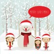 Merry christmas design — Stock Vector