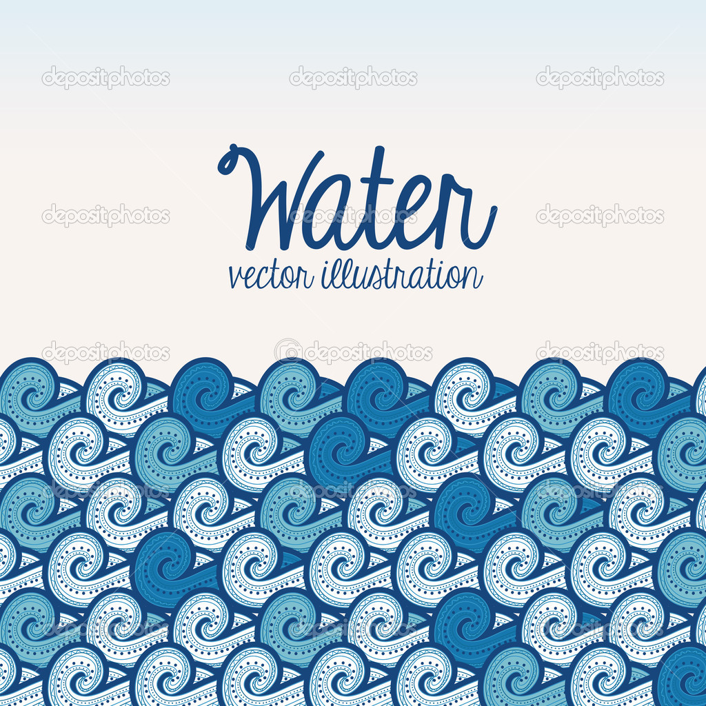 Water Design Vector Water Design Over White
