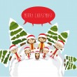 Merry christmas design — Stockvektor #34393697