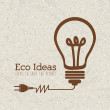Eco ideas — Stok Vektör
