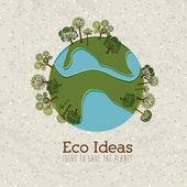 Eco ideas — Stock Vector