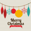 Christmas  and happy new year — Imagen vectorial