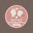 Married design — Vector de stock #35011021