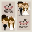 Married design — Stock Vector