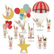 Stock Vector: Bunnies design