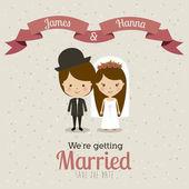 Married design — Stock Vector
