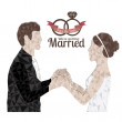 Vector de stock : Married design