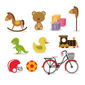 Baby toys — Stock Vector