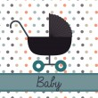 Cart baby — Stock Vector
