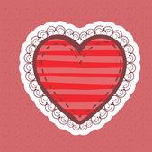 Projekt serce — Wektor stockowy