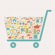 Shopping icon — Stock Vector #36788489