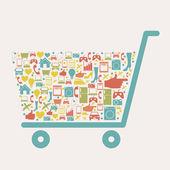 Shopping ikonen — Stockvektor