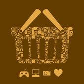 Shopping icon — Stockvektor