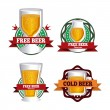 Beers design — Stock Vector