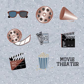 Movie theater — Vector de stock