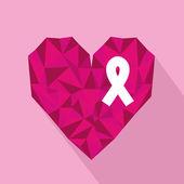 Ribbon pink — Stock Vector