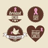 Câncer de mama — Vetor de Stock