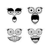 Cartoon faces — Stock Vector