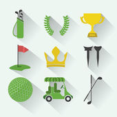 Golf design — Vettoriale Stock